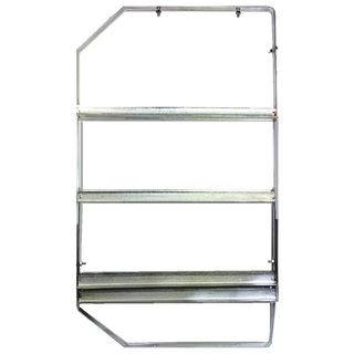 3 Tier Under Bar Glass Basket Rack - LEFT Only