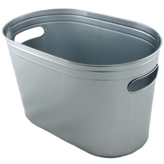 Ice Bucket Galvanised with Handles 6 Litre